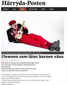 Härryda Posten Clown Göteborg Clownen Mattis