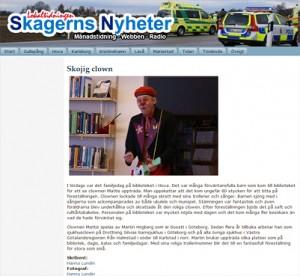 Skagerns Nyheter Clown Göteborg Clownen Mattis